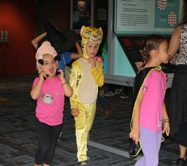 kids in costume at Discovery Cube